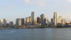 Miami summer sunset light downtown panorama 4k usa. Usa miami summer sunset light downtown panorama 4k stock footage