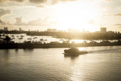 Miami at sunrise Royalty Free Stock Photo