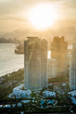 Miami at sunset Royalty Free Stock Photography