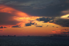 Miami sunset Royalty Free Stock Photo