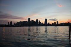 Miami sunset Stock Photo