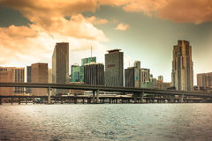 Miami Sunset Royalty Free Stock Images