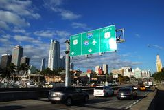 Miami Traffic Royalty Free Stock Images