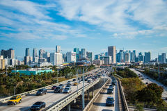 Miami traffic landscape cars Royalty Free Stock Photography