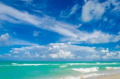 Miami tropical beach and ocean Royalty Free Stock Image