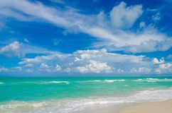 Miami tropical beach and ocean Royalty Free Stock Images