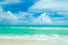 Miami tropical beach and ocean Stock Photography