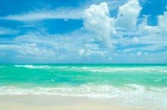 Miami tropical beach and ocean Stock Photo