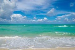 Miami tropical beach and ocean Royalty Free Stock Photos