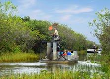 Miami, U.S.A., viaggio della barca nel ` del parco il ` dei terreni paludosi Fotografie Stock