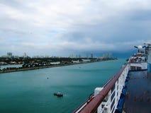 Miami, USA - January 5, 2014: Carnival Glory Cruise Ship Stock Photos