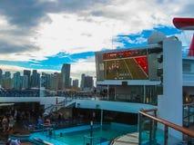 Miami, USA - January 5, 2014: Carnival Glory Cruise Ship Royalty Free Stock Photos