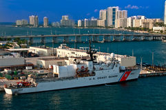 Miami US Coast Guard Boat Royalty Free Stock Photo
