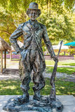 This large bronze statue of Charlie Chaplin is one of nine works in Bayfront Park for Art Basel. The exhibit titled WAR to WAR fea. Miami, USA - 10. April 2014 Stock Image