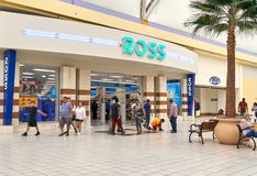 Ross store entrance. MIAMI, USA - AUGUST 22, 2018: Ross store entrance and logo. Ross Stores is an American chain of off-price department stores stock photo