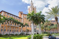 Miami, USA, Biltmore hotel in Coral Gables. The historic resort is located in the city of Coral Gables, Florida near Miami. Hotel Biltmore has become the stock images