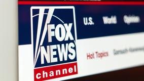 Fox News website homepage. Close up of Fox News channel logo. Miami, USA - 07.20.2019: Fox News website homepage. Close up of Fox News channel logo. Can be used stock video