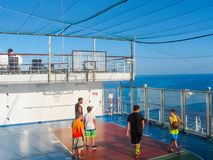 Miami, USA - 12. Januar 2014: Karneval Glory Cruise Ship Lizenzfreie Stockbilder