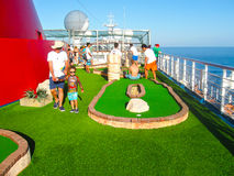 Miami, USA - 12. Januar 2014: Karneval Glory Cruise Ship Stockbilder