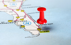 Miami  USA map Royalty Free Stock Image