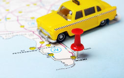 Miami  USA map taxi Royalty Free Stock Photography