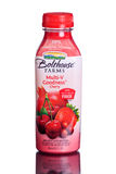 MIAMI, USA - March 30, 2015: A bottle of Bolthouse Farms Multi-V Goodness Cherry smoothie. Royalty Free Stock Images