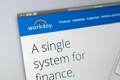 Workday Company Website Homepage  Close Up Of Workday Logo