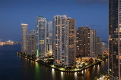 Miami van de binnenstad Stock Afbeelding