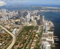 Miami van de binnenstad, Florida Stock Foto's