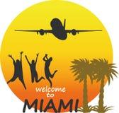 Miami  - vector badge - emblem - summer tropical Royalty Free Stock Photos