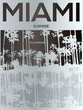 Miami - vector illustration concept in vintage graphic style for Stock Images