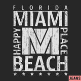 Miami vintage stamp. T-shirt print design. Miami vintage stamp. Printing and badge applique label t-shirts, jeans, casual wear. Vector illustration Royalty Free Stock Images