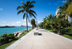Miami walkway. In south beach Stock Photography