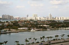Miami by the Water. Miami Skyline stock photos