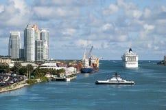 Miami Water Gateway Royalty Free Stock Photos