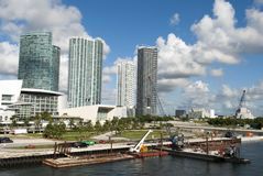Miami Waterfront Construction Royalty Free Stock Photo