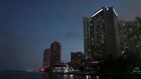 Miami Waterfront stock video footage