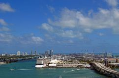 Miami Waterfront Scenics Stock Photos
