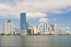 Miami waterfront skyline Royalty Free Stock Photography