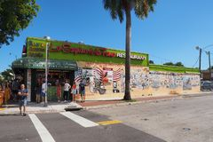 Miamis wenig Havana und Calle Ocho, Florida stockbild