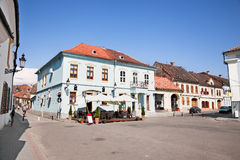 Mian square with old architecture , Medias, Transylvania, Romani Royalty Free Stock Photo