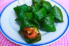 Miang Kam-Food wrapped in leaves, Thailand Royalty Free Stock Images