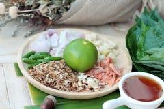 Miang Kham -  leaf wrap appetizer is delicious. Stock Photos