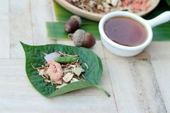 Miang Kham -  leaf wrap appetizer is delicious. Royalty Free Stock Photo
