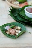 Miang Kham -  leaf wrap appetizer is delicious. Stock Photography
