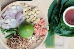 Miang Kham -  leaf wrap appetizer is delicious. Stock Image