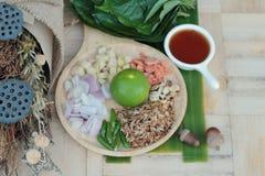 Miang Kham - liścia opakunku zakąska jest wyśmienicie Zdjęcie Royalty Free