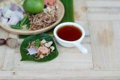Miang Kham - liścia opakunku zakąska jest wyśmienicie Zdjęcia Stock