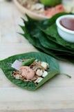 Miang Kham - liścia opakunku zakąska jest wyśmienicie Fotografia Stock