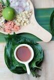 Miang Kham - liścia opakunku zakąska jest wyśmienicie Obrazy Stock
